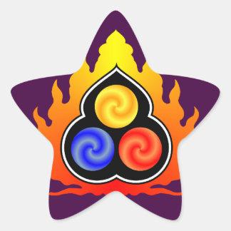 The 3 Jewels - Taoism / Tao Te Ching / Lao Tzu Star Sticker