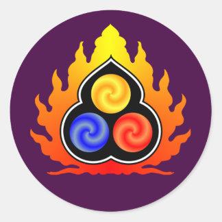 The 3 Jewels - Taoism / Tao Te Ching / Lao Tzu Classic Round Sticker