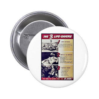 The 3 Life Savers Pinback Button