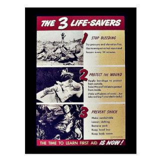 The 3 Life Savers Postcard