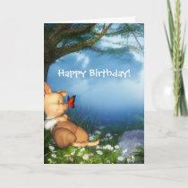 The 3 Little Pigs Dreamer Birthday Card