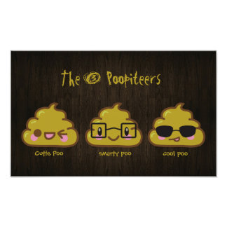 """The 3 Poopiteers """"pooster""""  Personalized Poster"""