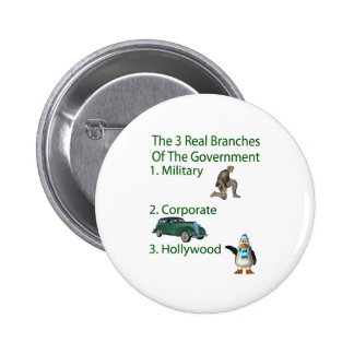The 3 Real Branches Of The Government Pinback Button