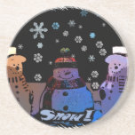 The 3 Snowmen Drink Coaster