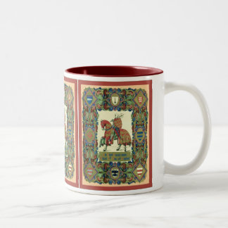 The 3rd Crusade Under Richard 1st of England Two-Tone Coffee Mug