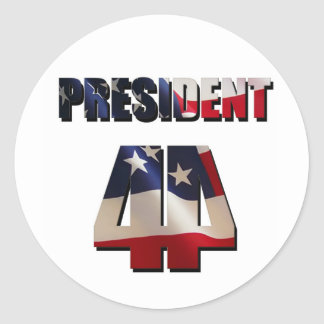 The 44th President Classic Round Sticker