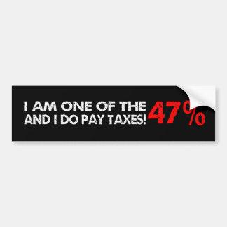 The 47 Percent Car Bumper Sticker