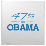 THE 47 PERCENT FOR OBAMA -.png Napkin