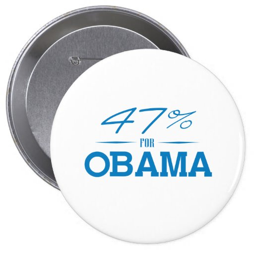 THE 47 PERCENT FOR OBAMA -.png Pinback Buttons