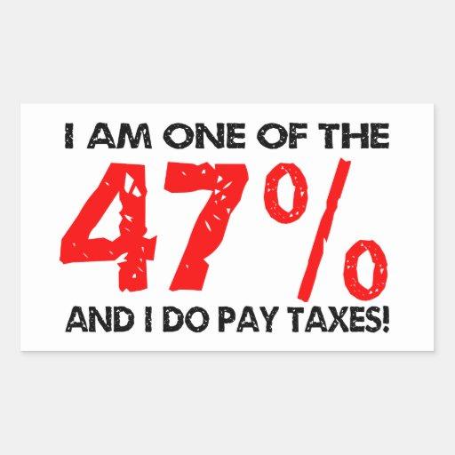 The 47 Percent Rectangular Sticker