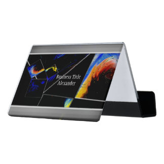 The 47th Problem of Euclid (Cosmic) Desk Business Card Holder