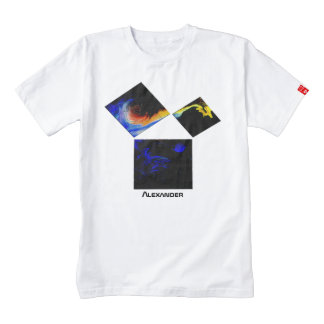The 47th Problem of Euclid (Cosmic) Zazzle HEART T-Shirt