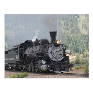 The 486 Leaving Silverton, Colorado Postcard