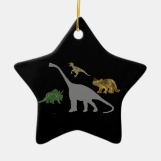 The 4 Dinos Ceramic Ornament