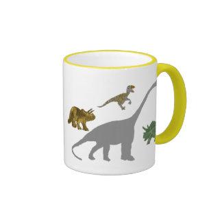 The 4 Dinos Ringer Mug