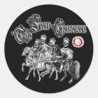 The 4 horsemen classic round sticker