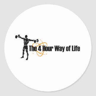 The 4 Hour Way of Life Classic Round Sticker