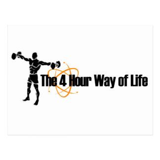 The 4 Hour Way of Life Postcard