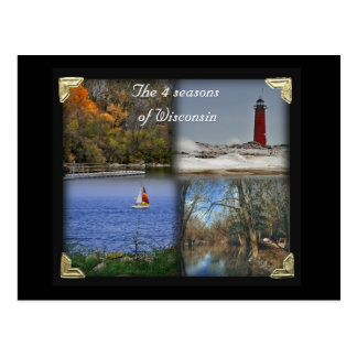 The 4 seasons of Wisconsin Post Cards