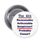 The 4th Amendment 2 Inch Round Button