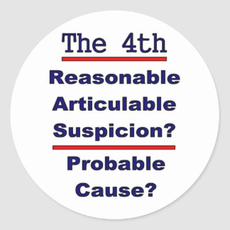 The 4th Amendment Classic Round Sticker
