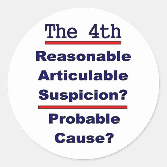 The 4th Amendment Classic Round Sticker