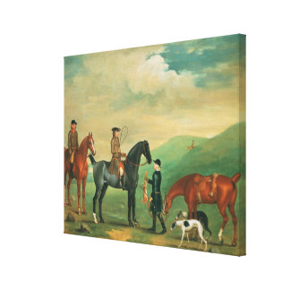 The 4th Lord Craven coursing at Ashdown Park Canvas Print