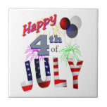 The 4th of July Ceramic Tiles