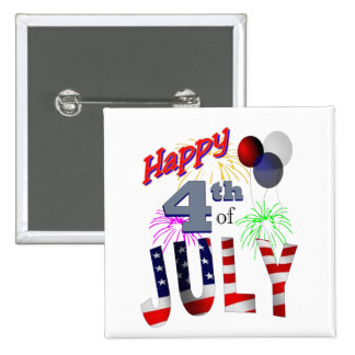 The 4th of July, Day of Independence Pin