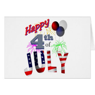 The 4th of July, Day of Independence Card