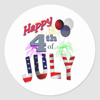 The 4th of July, Day of Independence Classic Round Sticker