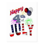 The 4th of July, Day of Independence Postcards
