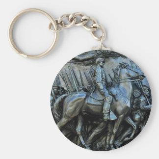 The 54th Massachusetts Volunteer Infantry Regiment Basic Round Button Keychain
