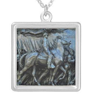 The 54th Massachusetts Volunteer Infantry Regiment Square Pendant Necklace