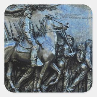 The 54th Massachusetts Volunteer Infantry Regiment Square Sticker