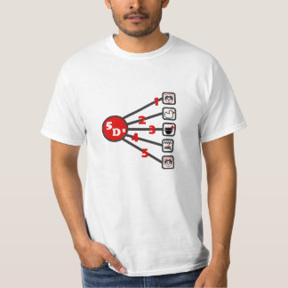 The 5 Ds of Dodgeball (Dodge,Duck,Dip,Dive, Dodge) T-Shirt