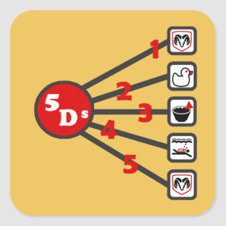 The 5 Ds of Dodgeball Square Sticker