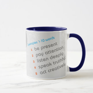 The 5 Principles of Authentic Living - Ringer Mug
