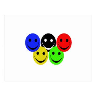 the 5 smileys postcard