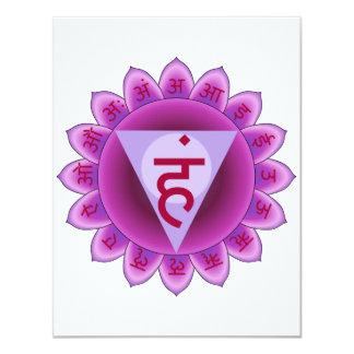 The 5th Primary Chakra Purple Vishuddha Card