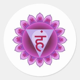 The 5th Primary Chakra Purple Vishuddha Classic Round Sticker