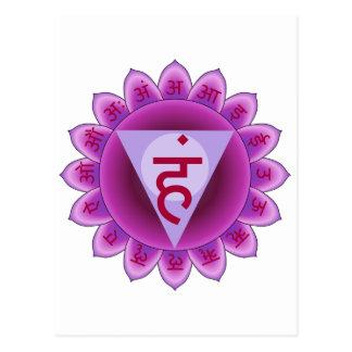The 5th Primary Chakra Purple Vishuddha Post Card