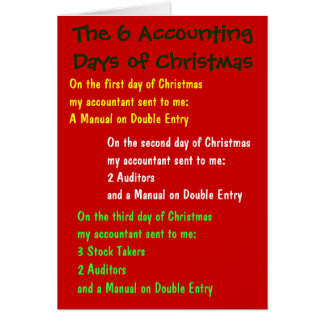The 6 Accounting Days of Christmas Greeting Cards