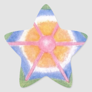 The 6 Directions Star Sticker