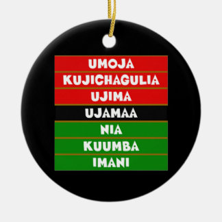 The 7 Principles Kwanzaa Holiday Ornament