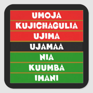 The 7 Principles Kwanzaa Holiday Stickers