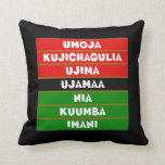 The 7 Principles Kwanzaa Throw Pillow