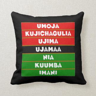 The 7 Principles Kwanzaa Throw Pillow