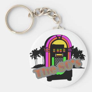 The 80's basic round button keychain