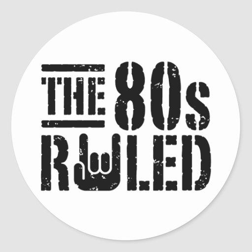 The 80s Ruled Classic Round Sticker